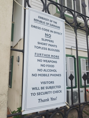 Surinamese Embassy Dress Code