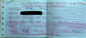 Moleson Creek Ferry Ticket