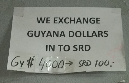Currency Exchange: GY to SRD