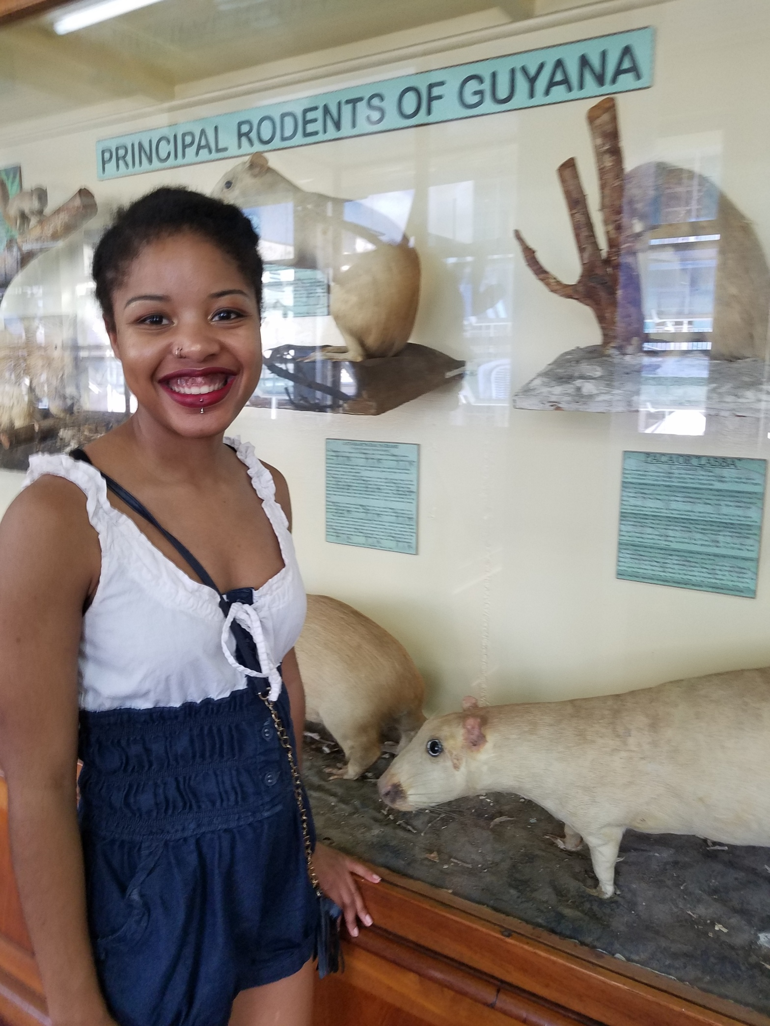Me Visiting the Guyana National Museum