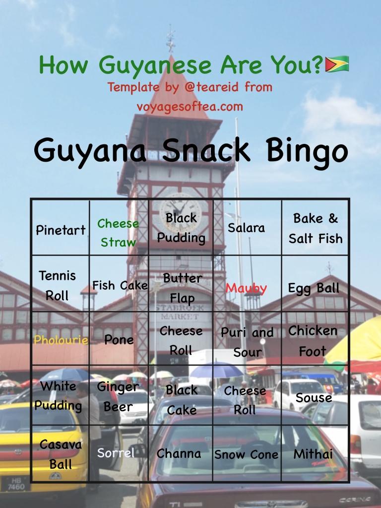 Guyanese Snack Bingo