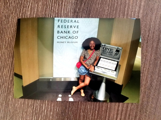 Me with a Million Dollars at the Federal Reserve Museum